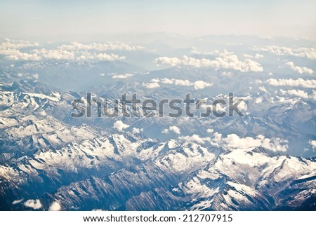 Alpine Alps mountain landscape, top of Europe, Switzerland