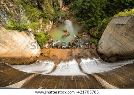 Alpine barrier - stock photo
