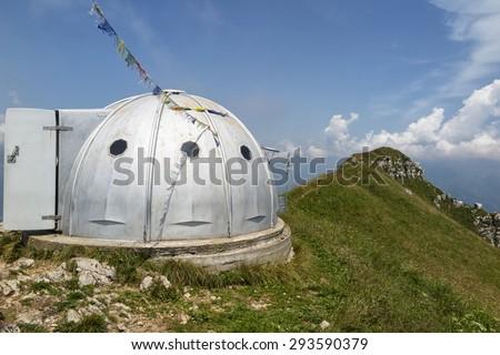 Alpine biouvac - stock photo