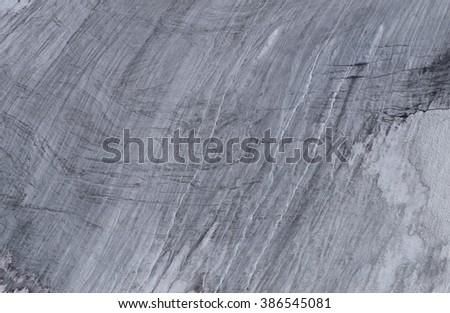 Alpine glacier close-up - stock photo