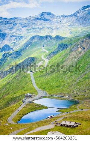 alpine lake in Grossglockner pass, Austria