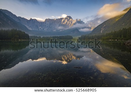 alpine lake in the Julian Alps