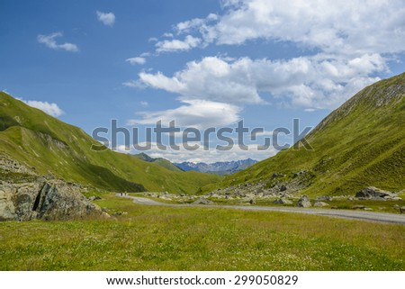 alpine landscape in summer, Alps of South Tyrol (Suedtirol), Austria, Europe - stock photo