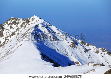 Alpine landscape in the Transylvanian Alps, Romania, Europe - stock photo