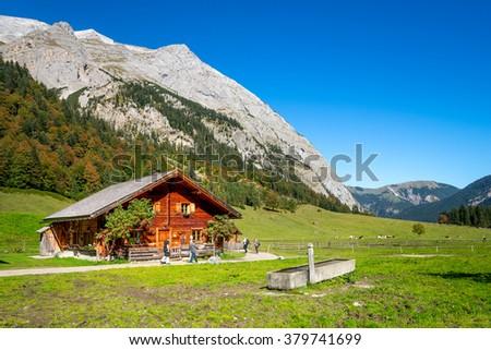 alpine pasture, Hinterriss,  - stock photo