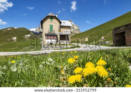 Alpine road - stock photo