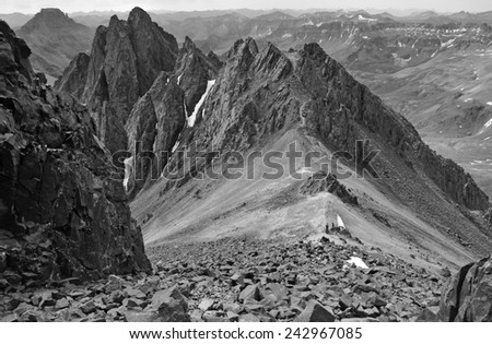 Alpine scene in the San Juan Mountains, Colorado Rockies - stock photo