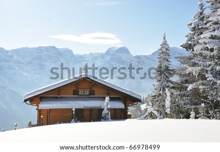 Alpine scenery - stock photo