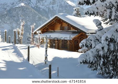 Alpine scenery - stock photo