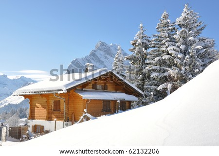 Alpine scenery. Switzerland - stock photo