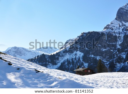 Alpine scenery, Switzerland - stock photo
