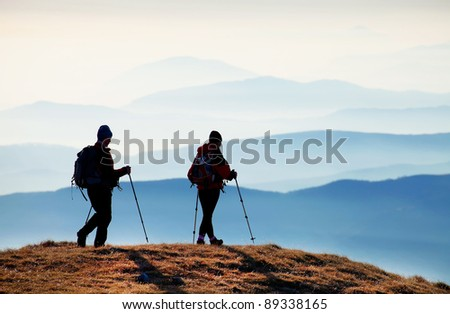 Alpine trekking - stock photo