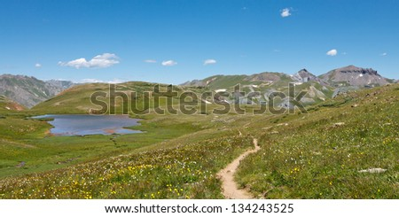 Alpine Tundra in the Rocky Mountains, Colorado, USA - stock photo