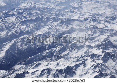 Alps aerial photo - stock photo