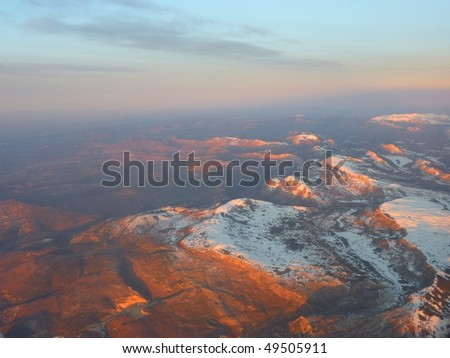 Alps between France, Italy and Switzerland - stock photo