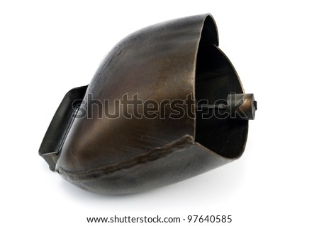 Alps cowbell isolated on white - stock photo