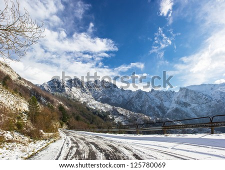 Alps snow - stock photo