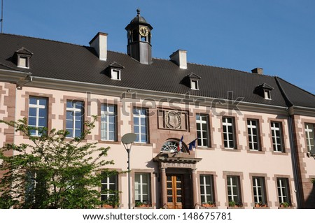 Alsace, Haut Rhin, the city hall of Thann