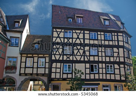 Alsace typical traditional House (Colmar, France) - stock photo