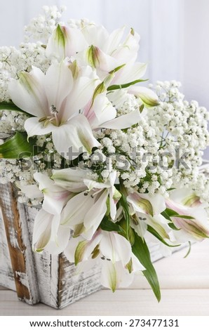 Alstroemeria flower commonly called the Peruvian lily or lily of the Incas - stock photo