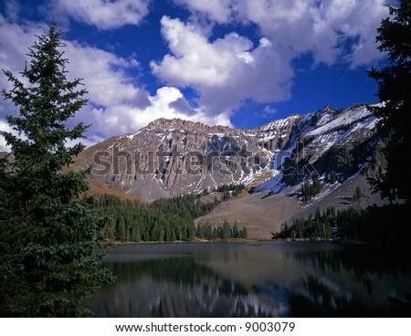 Alta lake in the Uncompahgre National Forest, Colorado. - stock photo