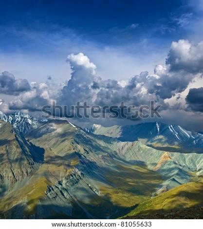 altai mountains, altai, russia - stock photo