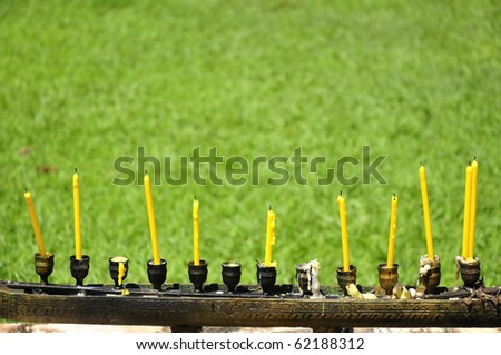 Altar candles - stock photo