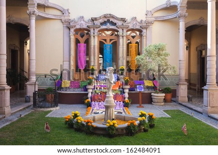 Altar of the dead is obligatory attribute of Traditional Day of  - stock photo