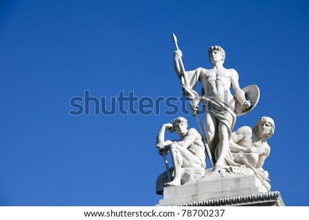 Altare della Patria detail, Rome, Italy - stock photo