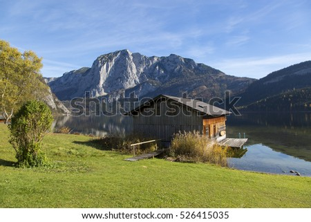 Altaussee, Styria,Austria - November 01, 2016 typical architecture  in area named salzkammergut in styria,austria