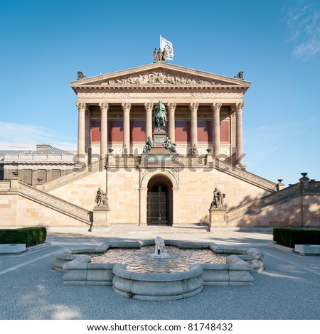 Alte Nationalgalerie in Berlin - stock photo