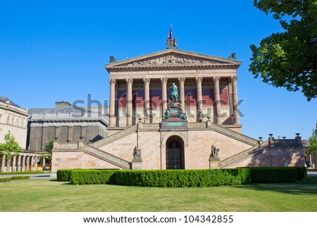 Alte Nationalgalerie (Old National Gallery) located on Museum Island, a UNESCO-designated World Heritage Site on Berlin, Germany - stock photo