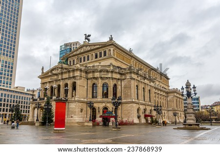 Alte Oper (Old Opera) in Frankfurt, Germany - stock photo