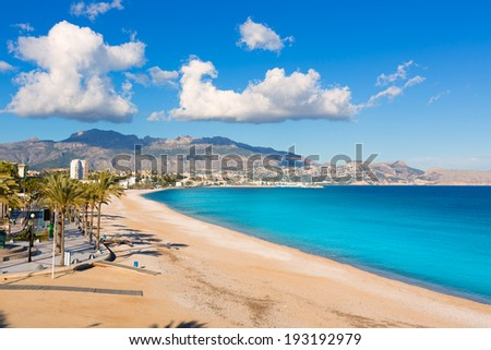 Altea Playa del Albir of white stones in Alicante Mediterranean Spain - stock photo