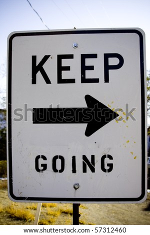 Altered city street sign - stock photo
