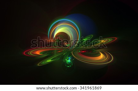 Altered Realities abstract illustration - stock photo