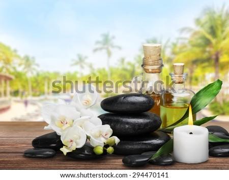 Alternative, aroma, aromatherapy. - stock photo