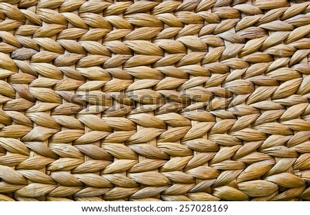 Alternative background. Weave pattern of water hyacinth texture - stock photo