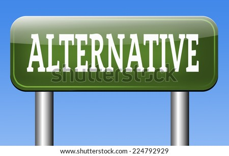 alternative choice, choose different options underground music or movement  - stock photo