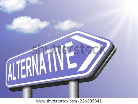 alternative choices, choose different option underground music or movement  - stock photo