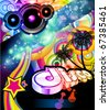Alternative Disco Flyer For Tropical  Music Event - stock photo
