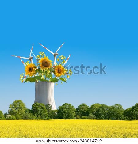 Alternative energies - stock photo