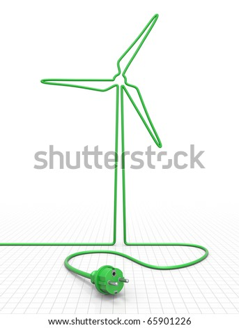 Alternative energy concept - stock photo