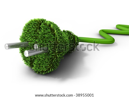 Alternative energy concept (3d illustration) - stock photo