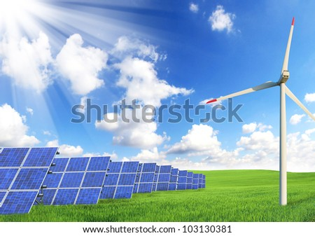 Alternative energy sources - stock photo