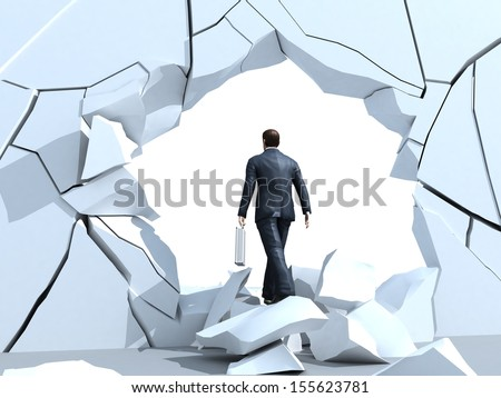 Alternative exit  - stock photo