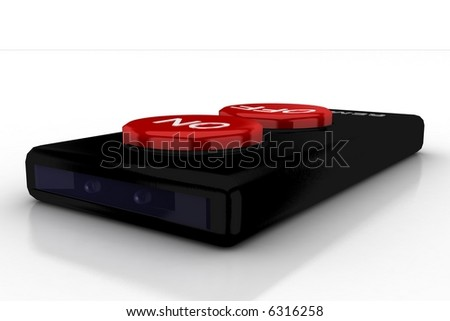 alternative front of a simple remote - stock photo