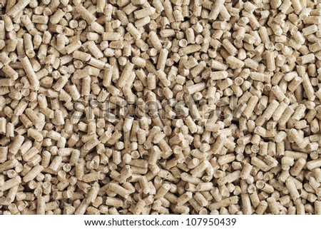 Alternative fuel: Wood pellets, made from sawdust and other industrial wood waste. - stock photo