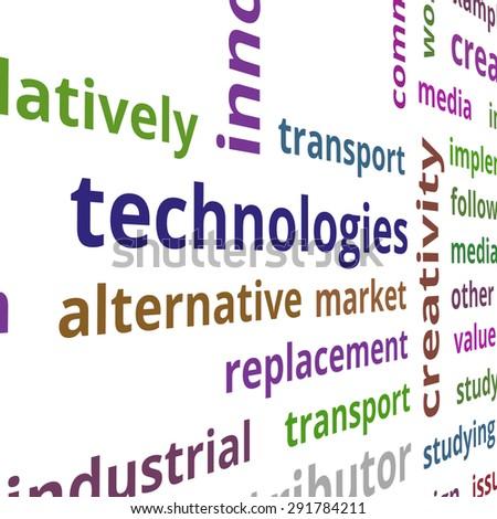 Alternative market concept text data illustration - stock photo