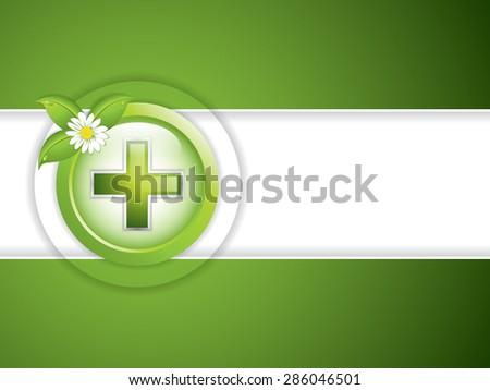 Alternative medication concept - medical cross - stock photo